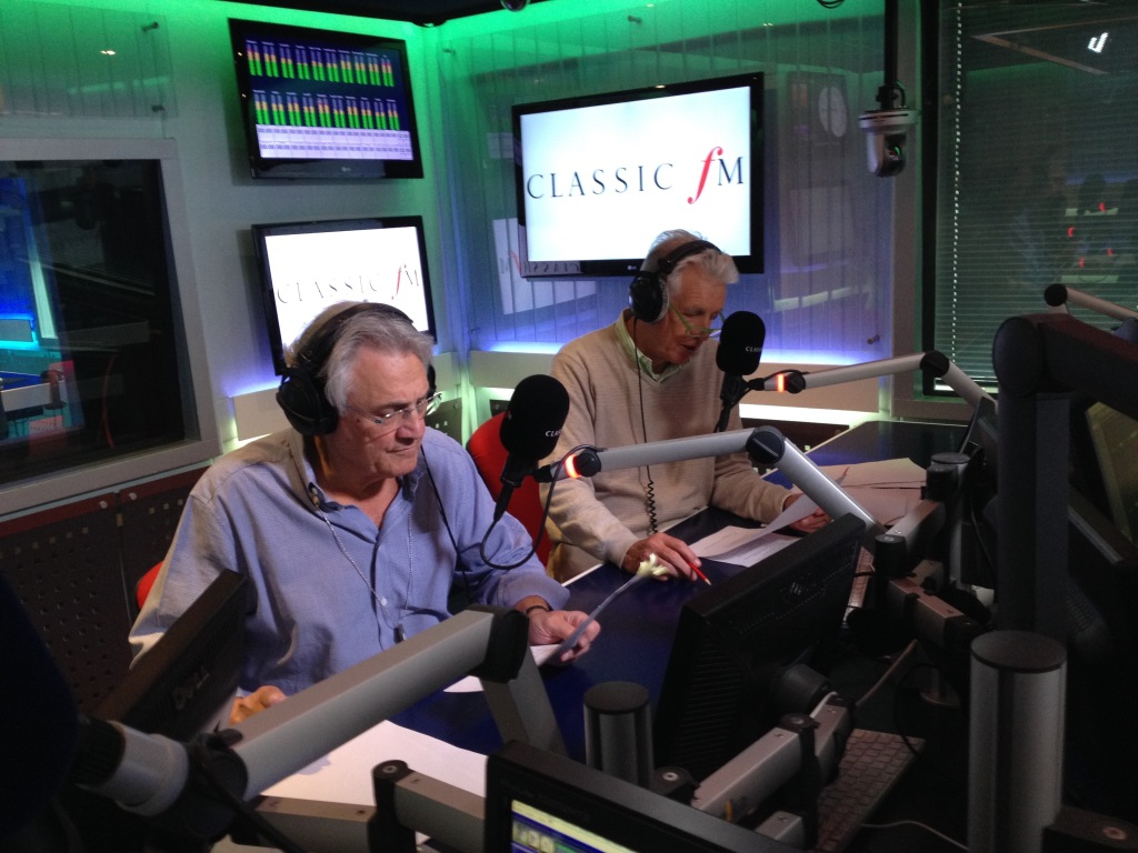John Suchet and Nicholas Owen in the Classic FM studio