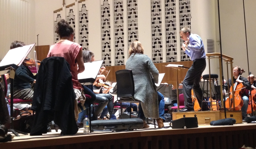 Vasily Petrenko conducts a rehearsal for the Royal Liverpool Philharmonic's 175th anniversary concert