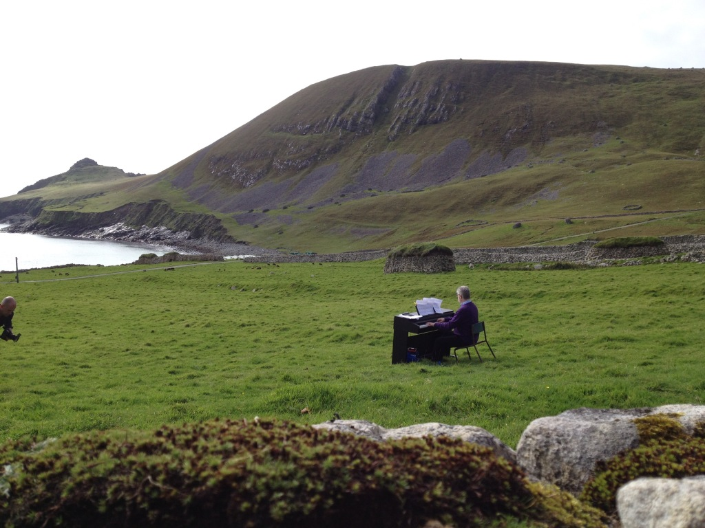 Sir James MacMillan plays pieces from The Lost Songs of St Kilda on the abandoned Scottish island.