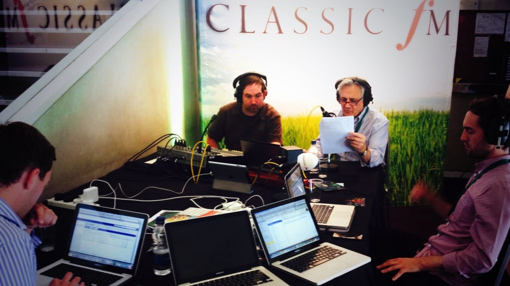 Classic FM broadcasting live from the Bristol Proms